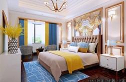 江門純美式高箱床